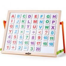 Magnetická tabule - Tabulka s ABC na stůl (Woody)