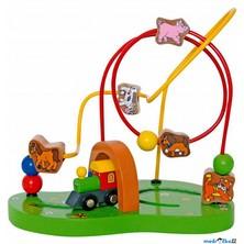 Motorický labyrint drátěný - Mašinka (Woody)