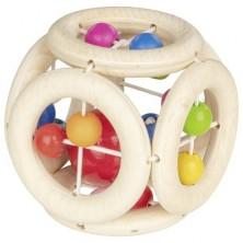 Chrastítko - Elastické, Kostka s duhovými perličkami (Heimess)