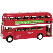 Kovový model - Autobus londýnský double-decker, 12cm