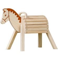Dřevěný koník - Přírodní s madlem (Goki)