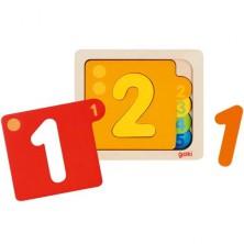 Puzzle vícevrstvé - Čísla, 5 vrstev (Goki)