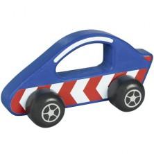 Auto - Dřevěný závodníčka modrá do ruky (Goki)