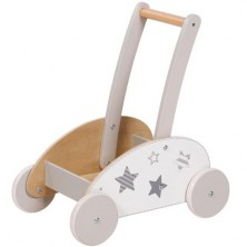 Vozík - Chodítko s madlem, Šedý s hvězdičkami (Goki)