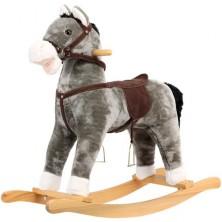 Houpadlo - Houpací kůň, Plyšový šedivý (Bino)