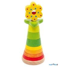 Skládačka s kroužky - Věž s květinou (Legler)