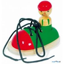 Šněrování - Šněrovací botička s panáčkem (Legler)