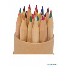 Psací potřeby - Pastelky dlouhé přírodní v tubusu, 24ks (Legler)