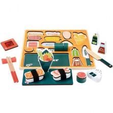 Puzzle na desce - 3D Puzzle Sushi bar, 28ks (Bino)