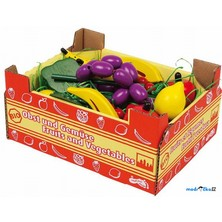 Dekorace prodejny - Krabice s ovocem (Legler)