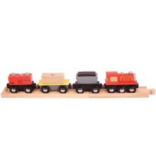 Vláčkodráha vláčky - Nákladní vlak + 2 koleje (Bigjigs)