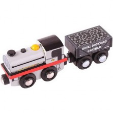 Vláčkodráha vláčky - Lokomotiva replika Peckett + 2 koleje (Bigjigs)