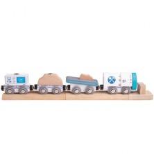 Vláčkodráha vláčky - Důlní vlak + 3 koleje (Bigjigs)