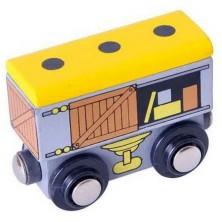Vláčkodráha vláčky - Vagón se zbožím + 2 koleje (Bigjigs)