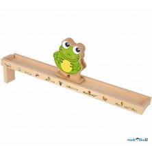 Chodicí hračka - Žába barevná (Legler)