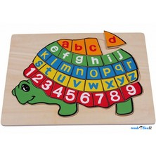 Puzzle výukové - Abeceda a čísla želva (Legler)