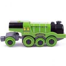 Vláčkodráha vláčky - Elektrická lokomotiva, Flying Scotsman (Bigjigs)