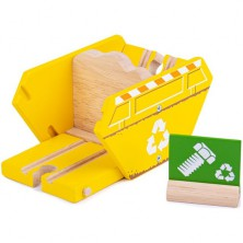 Vláčkodráha budovy - Kontejner recyklace (Bigjigs)