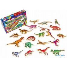 Magnetky - Dinosauři dřevěné, 20ks (Legler)