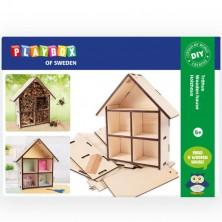 Kreativní sada - Domeček pro hmyz dřevěný (Playbox)