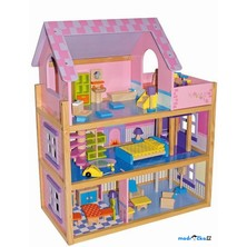 Domeček pro panenky - Pinky, velký s výtahem (Legler)