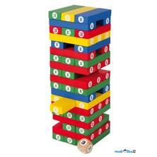 Jenga barevná - S čísly (Legler)
