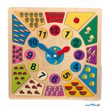 Puzzle výukové - Hodiny s počty (Legler)