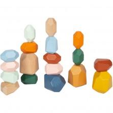 Kostky - Barevné, Kameny balanční Safari, 18ks (Legler)