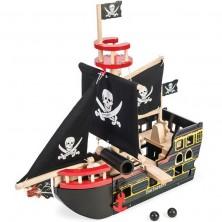 Loď dřevěná - Pirátská loď Barbarossa (Le Toy Van)