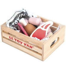 Dekorace prodejny - Uzeniny v bedýnce dřevěné (Le Toy Van)