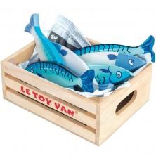 Dekorace prodejny - Ryby v bedýnce dřevěné (Le Toy Van)