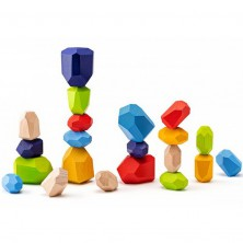 Kostky - Barevné, Kameny balanční, 21ks (Woody)