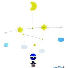 Kolotoč závěsný dřevěný - Krtek v balónu (Detoa)
