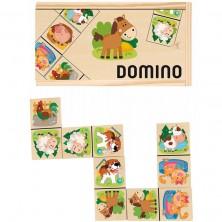 Domino - Domácí zvířata dřevěné, 28ks (Woody)