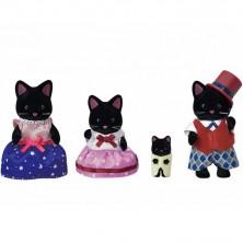 Sylvanian Families - Rodina koček půlnočních, 4ks