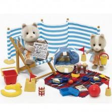 Sylvanian Families - Set, Medvídci na pláži
