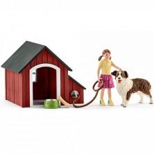 Schleich - Farma, Psí bouda se psem a holčičkou