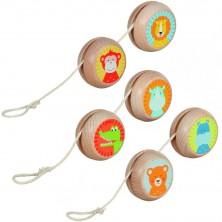 Drobné hračky - Jojo dřevěné, Zvířátka, 1ks (Goki)