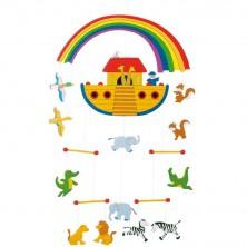 Kolotoč závěsný dřevěný - Noemova archa (Goki)