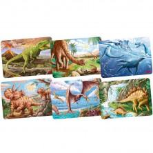 Puzzle dřevěné - Mini, Dinosauři, 24 dílků, 1ks (Goki)