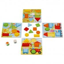 Společenská hra - Od 2 let, Didaktická tvary a barvy (Goki)