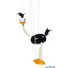 Loutka marioneta - Černý pštros (Goki)