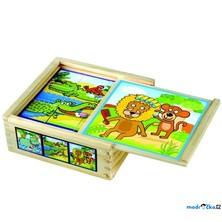 Kostky obrázkové 9ks - Veselá zvířátka (Bino)