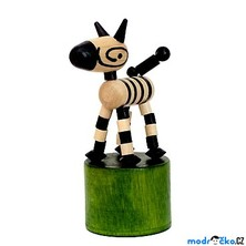 Mačkací figurka - Zebra retro (Detoa)