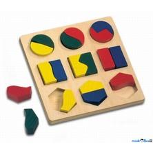 Vkládačka - Geometrické tvary půlené, menší (Bino)