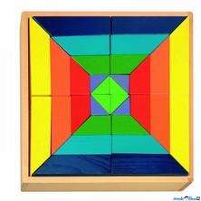 Mozaika - Kostky barevné, Hlavolam (Woody)