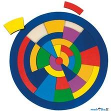 Hlavolam dřevěný - Puzzle na desce, Kruh s oblouky (Goki)