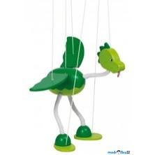 Loutka marioneta - Zelený drak Nepomuk (Goki)