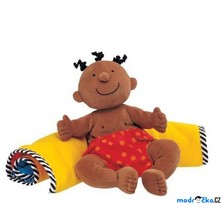 K´s Kids - Hadrový panáček s dekou, černoušek