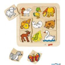 Puzzle výukové - Mláďata zvířátek (Goki)